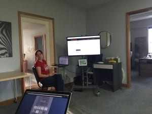 Amber speaking at the May 2015 Fort Collins WordPress Meetup