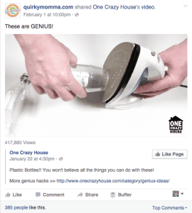 example of facebook shared video - facebook tips