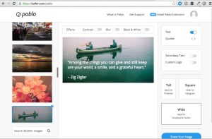 pablo by buffer dashboard - facebook tips