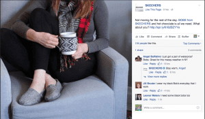 picture of someone sitting on a couch with sketchers on - facebook tips