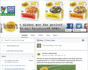 tommy's superfoods facebook page what social media platforms should i be on?