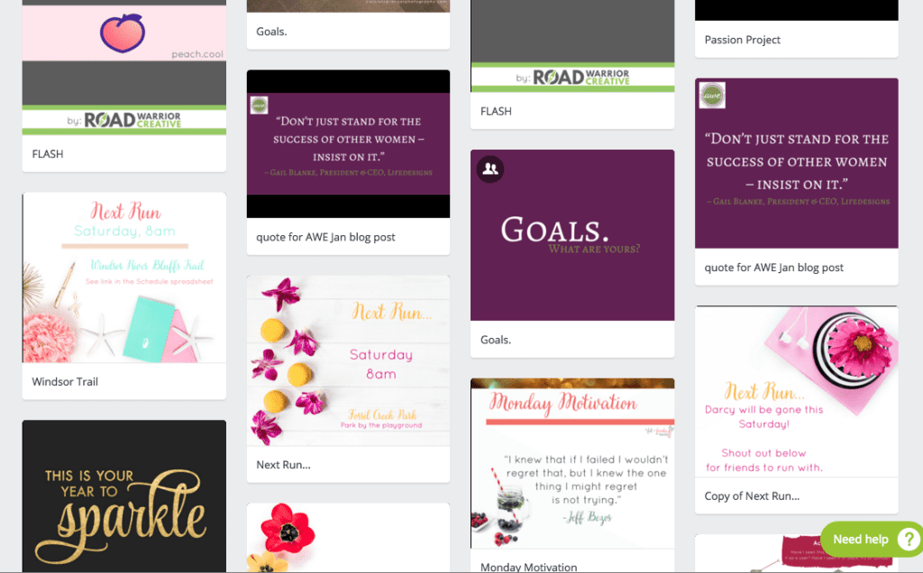 canva save your own templates graphic design apps