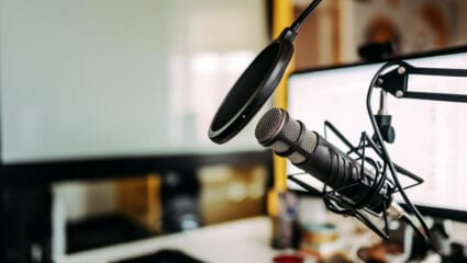podcast microphone setup