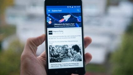 facebook news feed on mobile phone