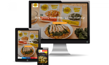 tommys superfoods mobile responsive website design