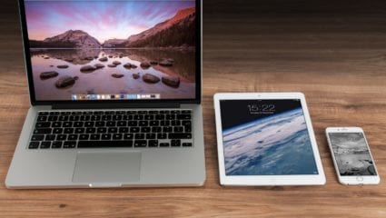 laptop ipad and iphone