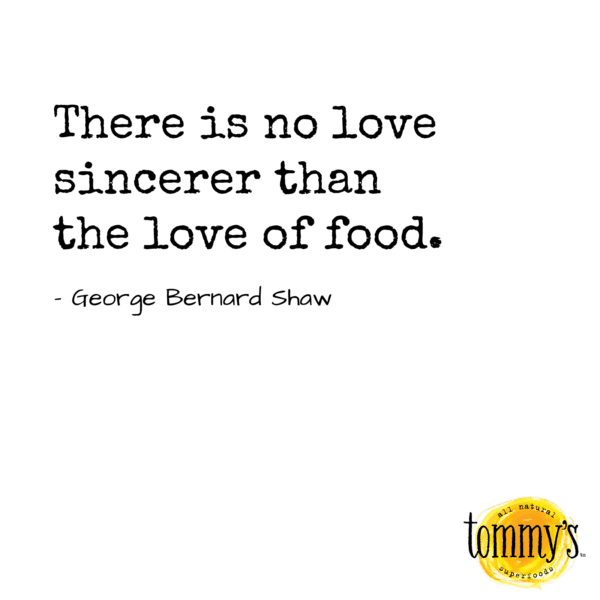 tommy's superfoods quote graphic