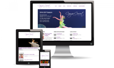 canyon concert ballet mobile responsive website