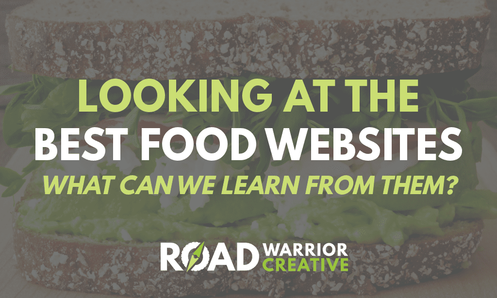 Learning from the Best Food Websites