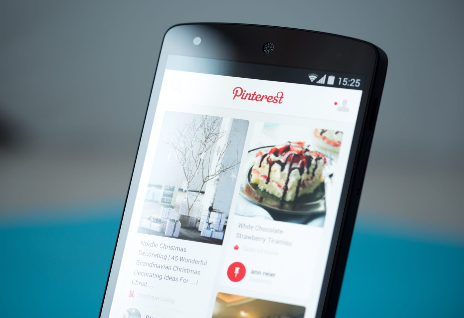 Mobile Marketing Tips - Mobile Phone Showing Pinterest