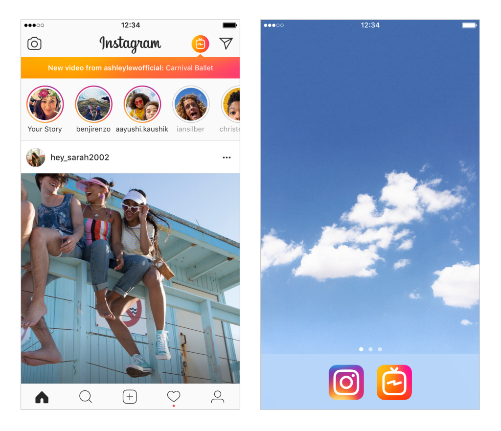 igtv image Instagram features