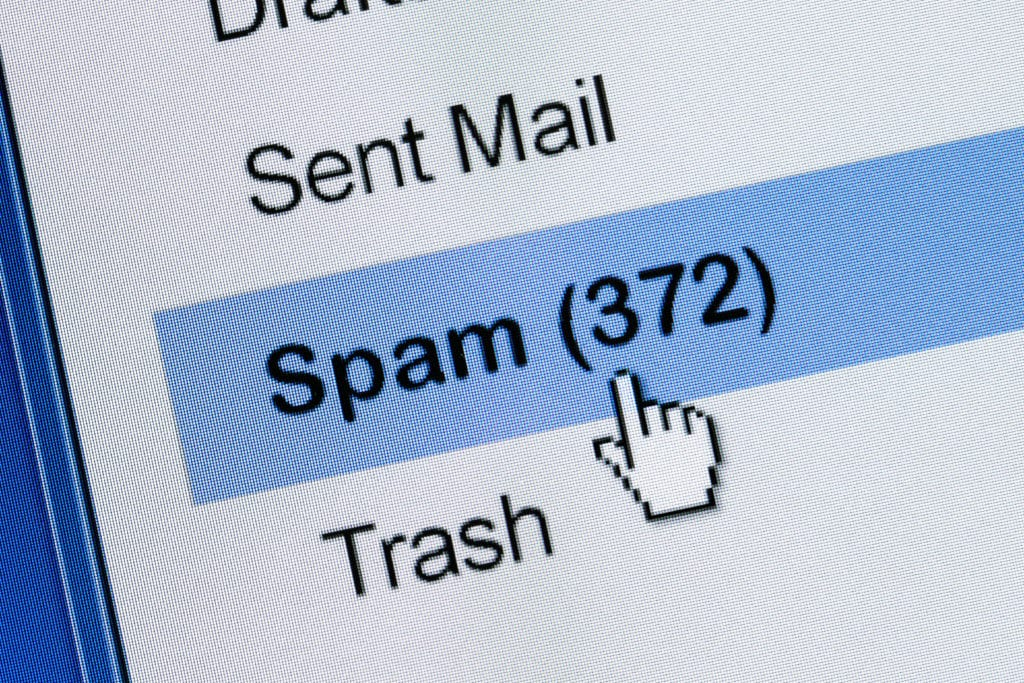 spam box in email