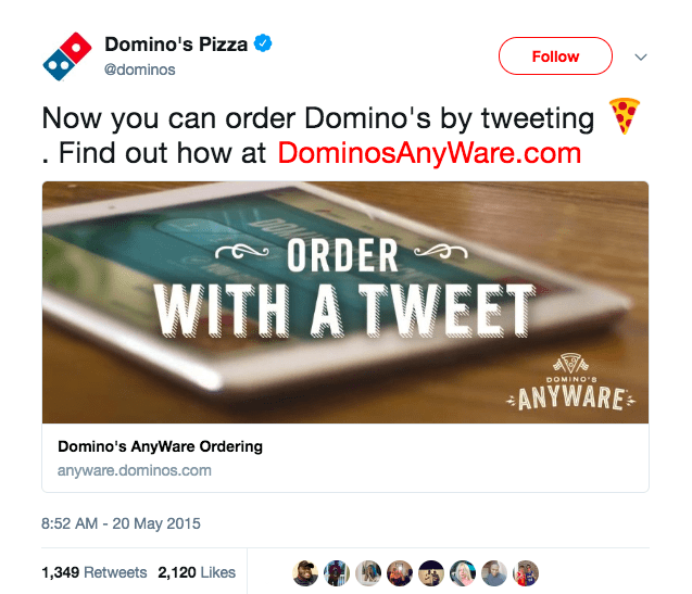 Domino's pizza tweet