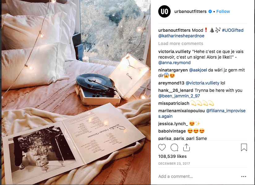 Urban Outfitters 2017 Instagram Christmas campaign