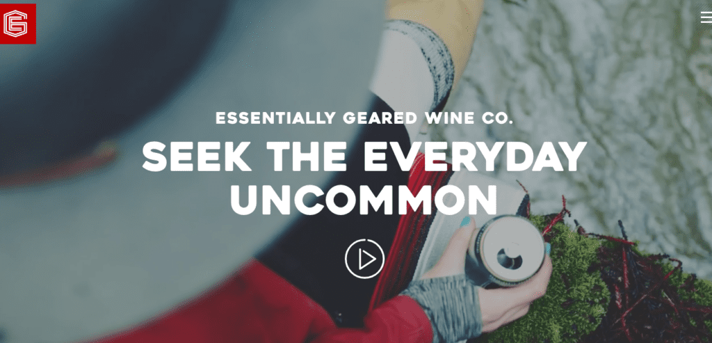 EG Wine co. home page