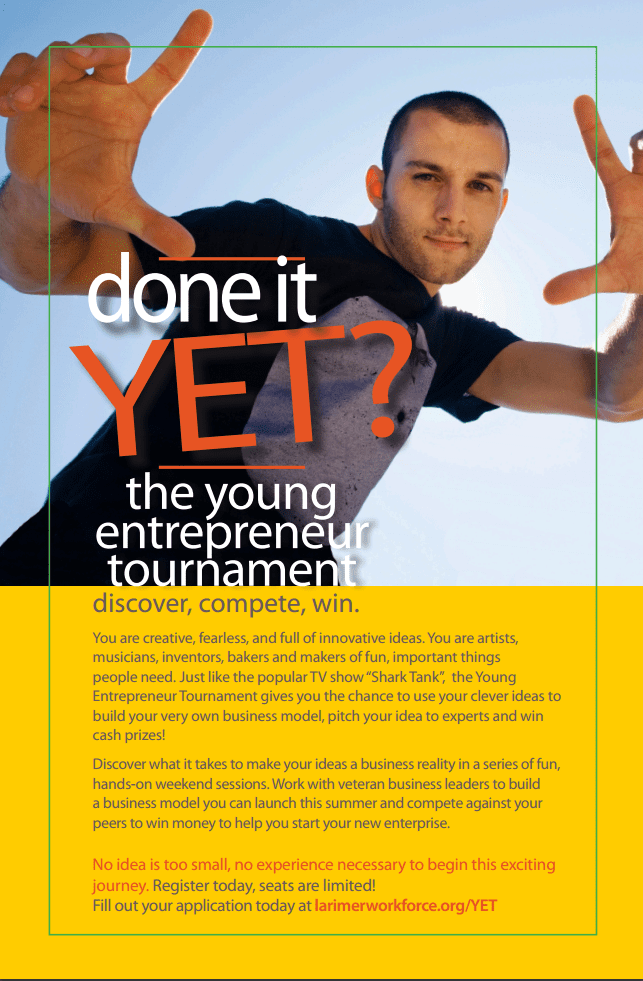 Youth Entrepreneurship Tournament Flier front