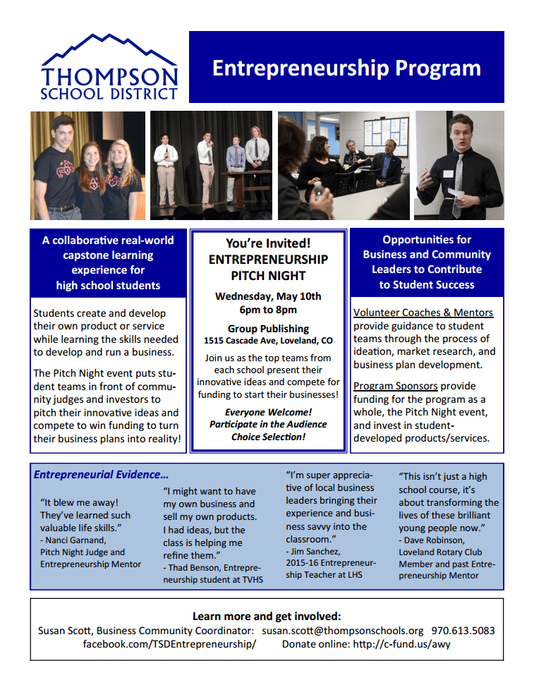 Thompson School District Entrepreneurial Program
