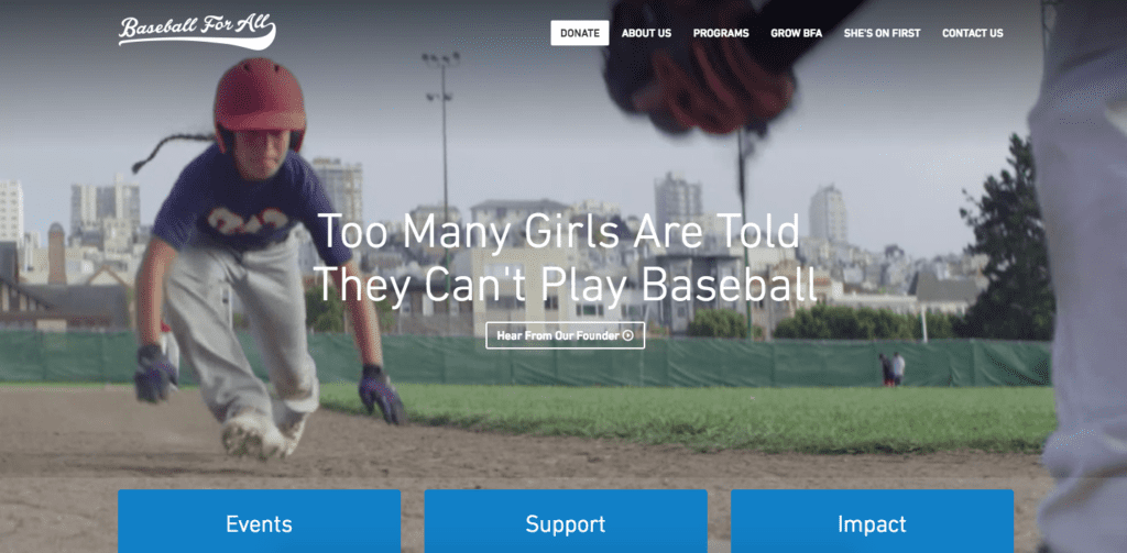 Baseball for all home page
