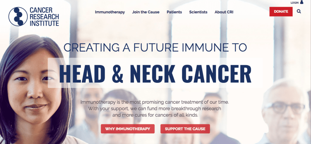 Cancer research institute home page