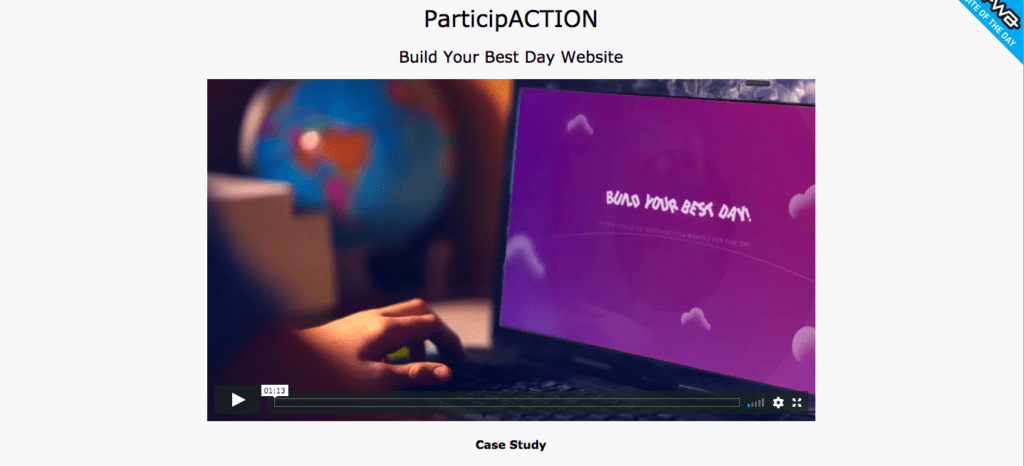ParticipACTION home page