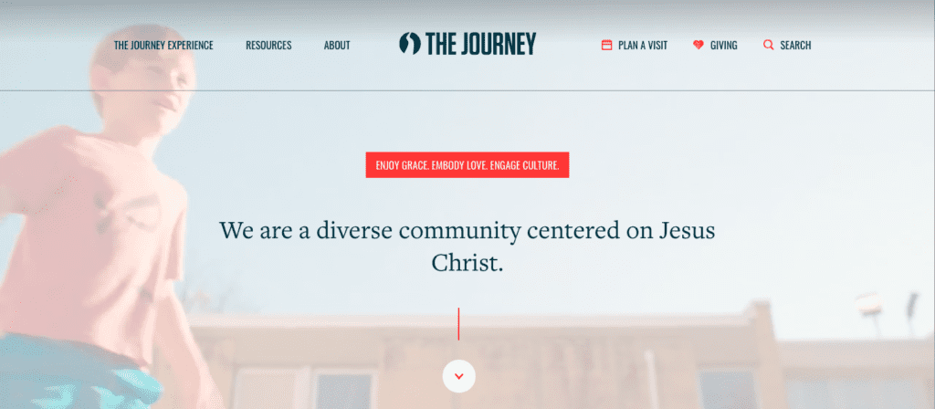 The Journey home page