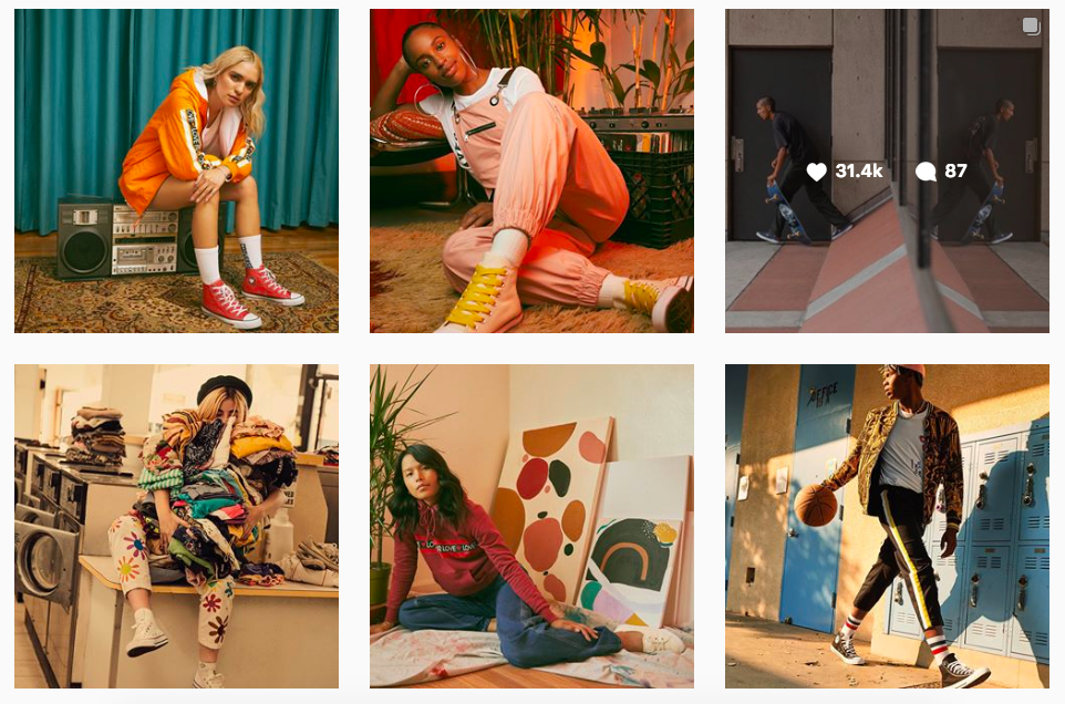 Converse Instagram feed