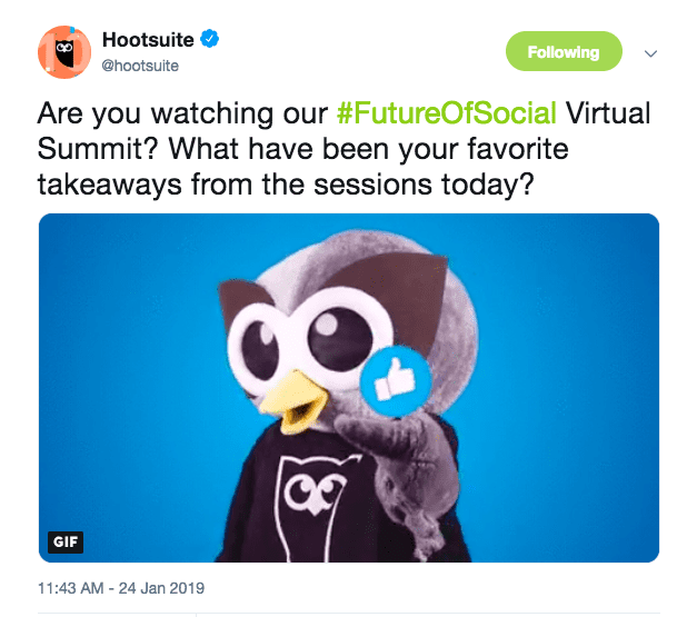Hootsuite future of social tweet