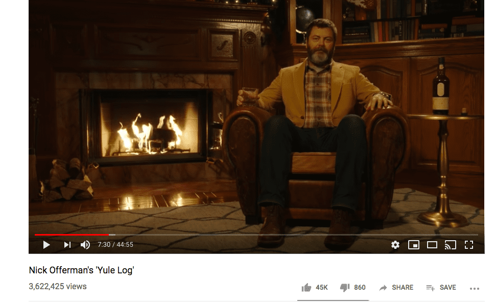 nick offerman and lagavulin christmas campaign