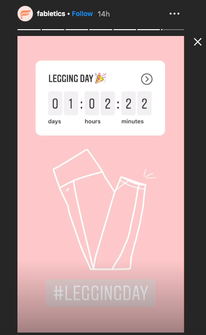 Fabletics countdown story
