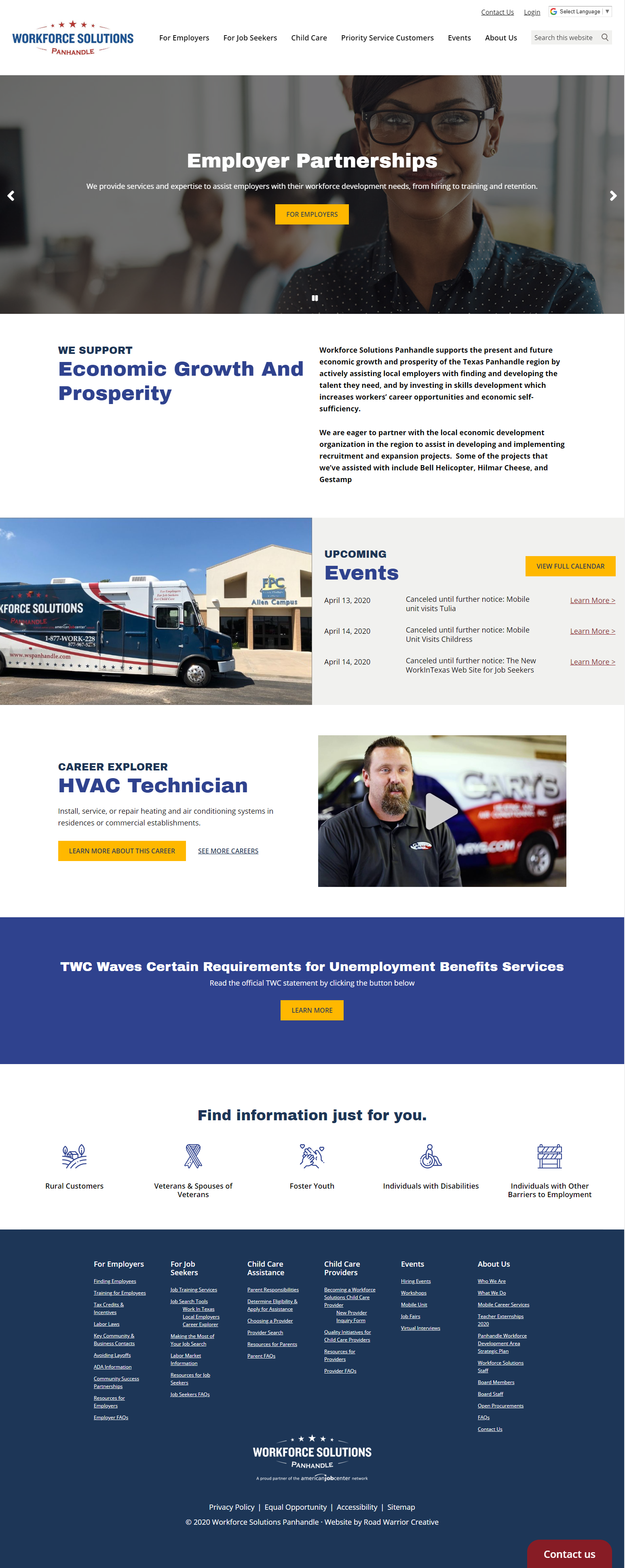 workforce solutions home page