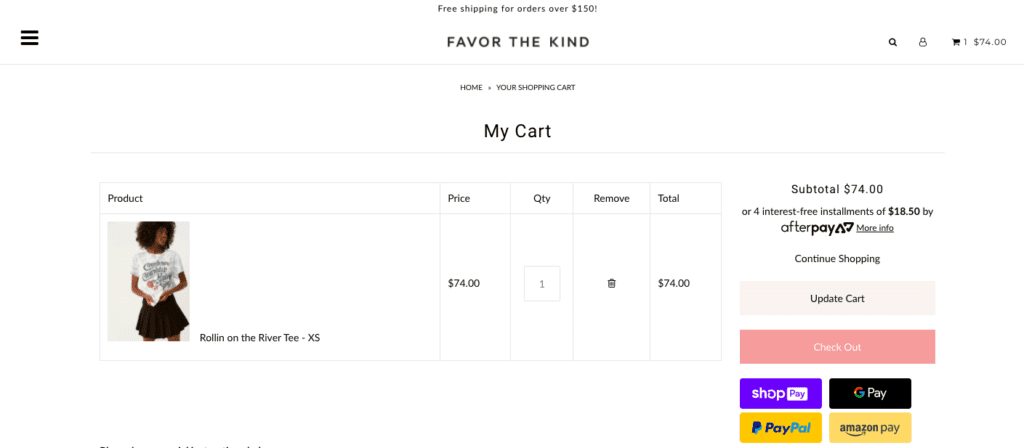 favor the kind check out page
