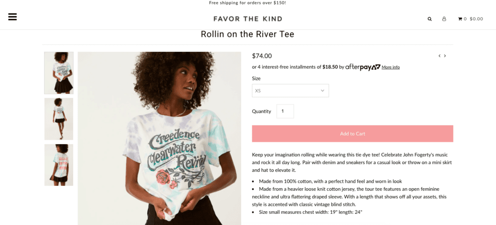 favor the kind product page