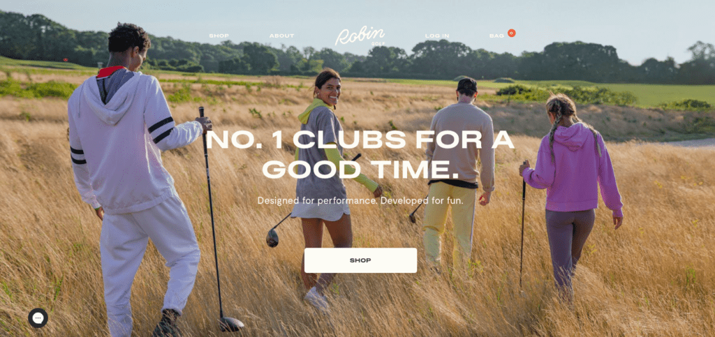 robin golf home page